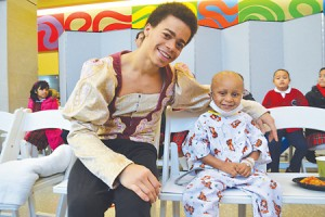 Cardiac patient Jeyron Paredes (right) meets a Prince.