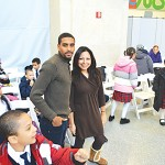 The Incarnation School's third grade teachers Gabriel Rosario and Marilyn Machuca were thrilled their students could also attend.