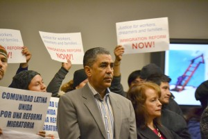 State Sen. Espaillat called on the state legislature to pass the DREAM Act.