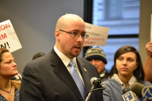 """We want comprehensive immigration reform, and we went it now,"" said State Senator Gustavo Rivera."