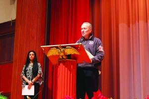 U.S. Senator Chuck Schumer delivered remarks.  Photo: Lia Lynn Vega