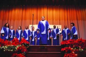 The New York City Housing Authority Choir performed.  Photo: Lia Lynn Vega