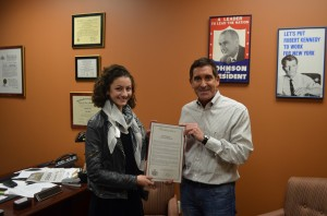 New York State Sen. Klein honored Sofie Somoroff