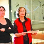 Co-curators Yuneikys Villalonga (right) and Susan Hoeltzel, who is also the gallery's Director.