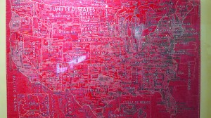 Contemporary Cartographies, the new exhibit at Lehman College Art Gallery, features the work of 16 artists.