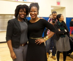 Bronx Tech Meetup organizers Tina Shoulder (left) and Majora Carter (right).