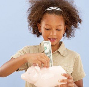 Your child can also learn valuable lessons about money and savings.