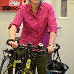 """""""I've been watching this go up for a long time,"""" said a bike-riding Dr. Jane Bedell, Assistant Commissioner of the Department of Health, of Via Verde."""