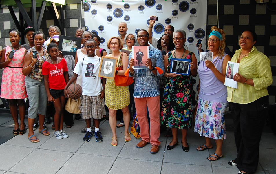 Participants gathered to share photographs and memories at the Bronx Museum of Art with the Digital Diaspora Family Reunion: One City, One Family project.