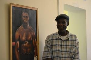 Smith's portrait of Mike Tyson.  Photo by Robin Elizabeth Kilmer