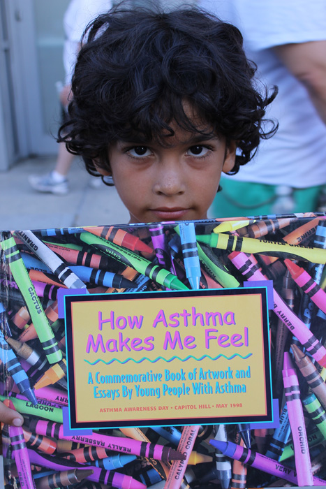 A young asthmatic boy is a member of South Bronx Unite