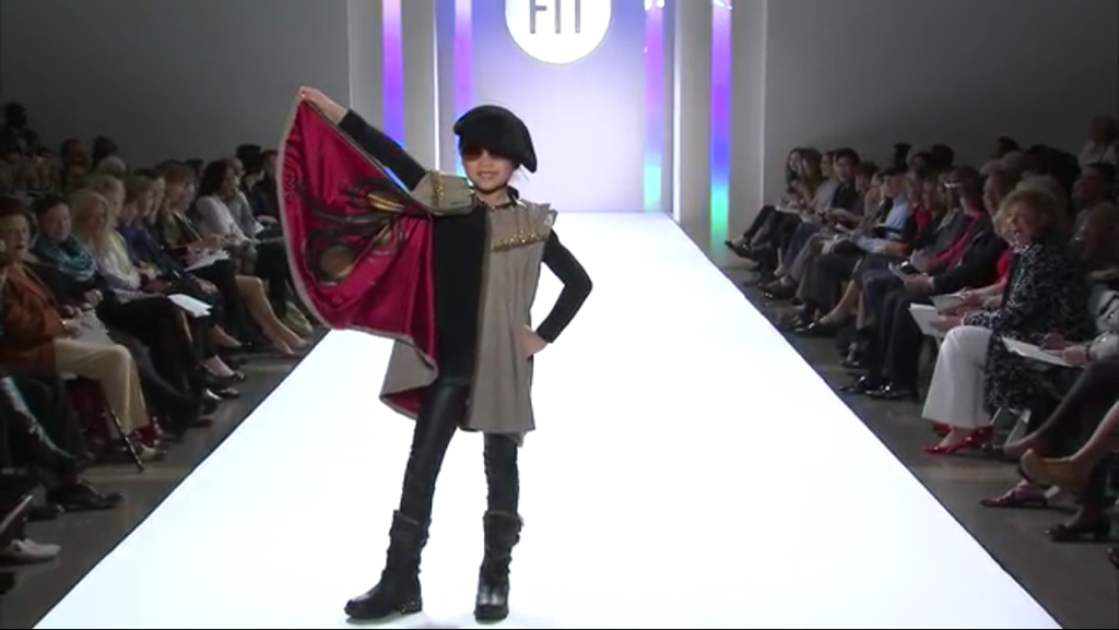 The cape was inspired by Chanel runway pieces.