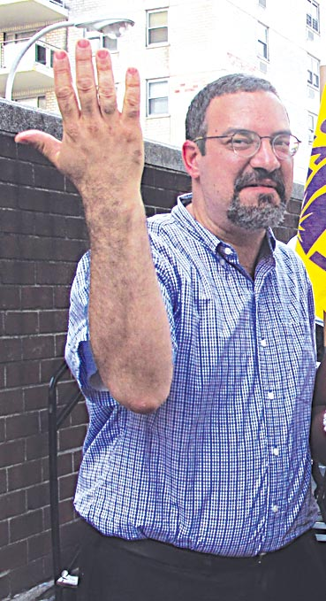 """""""We were negotiating for over a year,"""" said 32BJ President Héctor Figueroa."""