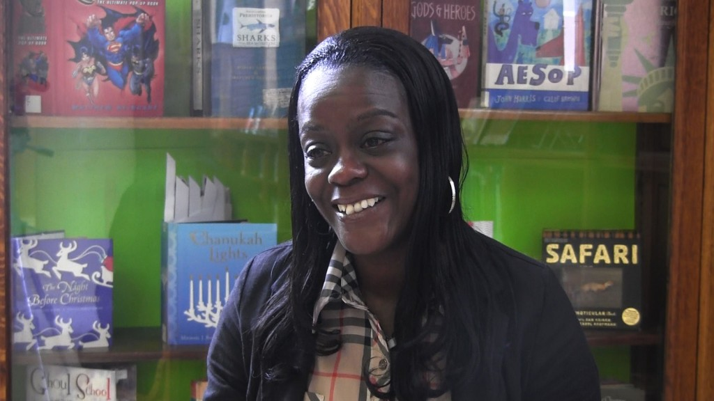 """""""Me sorprendí de ganar"""", dijo Jeanine Cross-Thomas, quien recibio el premio Sloan al Servicio Público 2013."""
