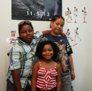Michael (left), with brother Jonathon, 10, and sister Giada, 5. Photo: QPHOTONYC