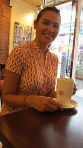 """I like having a healthy snack with my coffee,"" marveled Elisa Ureña."