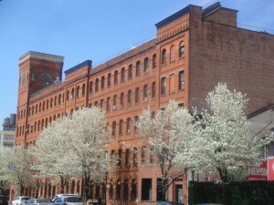 The Estey Piano Company Factory building is also known as the Clock Tower building.