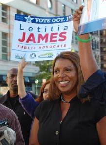 """My entire career is centered on fighting for women and families,"" said Public Advocate candidate Letitia ""Tish"" James."