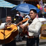 The mariachi band Aguila y Plata performed on Fordham Road for Cinco de Mayo.