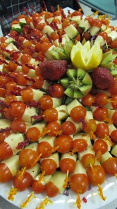 Healthy cheese and tomato bites made by Milagros Cesar.