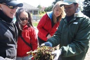At the New York Botanical Garden, Compost Project Coordinator Junior Schouten discussed the composting process – and black gold.