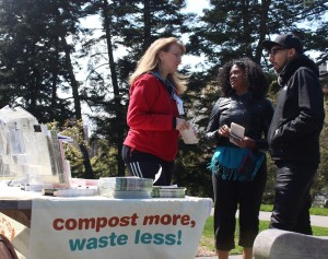 The composting session was one of many events during Earth Day.