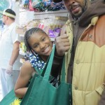 """""""We're going to make smoothies,"""" said Keyana Little with her father Shameik Shand."""