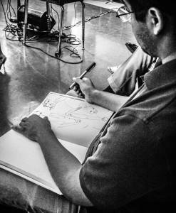 Saavedra has pursued art since adolescence. Photo: Stephen Pavey