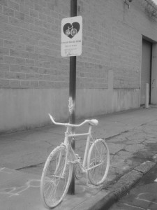 Ghost bikes are memorials for bicyclists involved in an accident or fatality.
