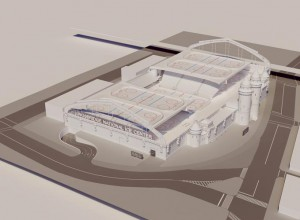 The Kingsbridge Armory will become the Kingsbridge National Ice Center, conceived by developers KNIC Partners, LLC. <br><i>Photo: Mayor's Office</i>