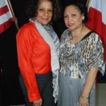 Artisans, including Marcia García (left) and Mercedes Polanco (right), also presented their work.