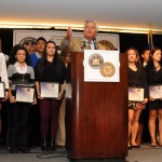 Students were awarded scholarships; Sen. Skelos is at center. Photo: QPHOTONYC