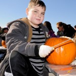 This was Damien McDevitt's second year as a pumpkin carver. Photo: QPHOTONYC