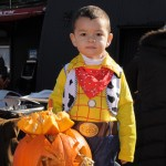 A cowboy, and his pumpkin. Photo: QPHOTONYC
