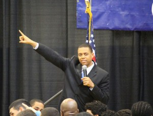IMG_3160 - Keynote Speaker Ryan Mack asked the students to point and say, 'I'm walking to manhood'web