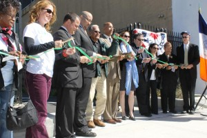 The opening of the Bronx Park part of the Bronx River Greenway was celebrated with a ribbon-cutting ceremony.