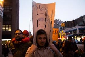 Protestor Sebastian Sánchez.