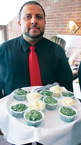 Creamed spinach or mashed potatoes?