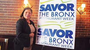 """I invite all people to come and savor the flavor of the Bronx,"" said Olga Luz Tirado, the Executive Director of the Bronx Tourism Council."