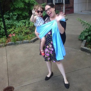 """""""I've used the same ring sling for my almost three-year-old since she was an infant,"""" explains Rachel Figueroa-Levin."""