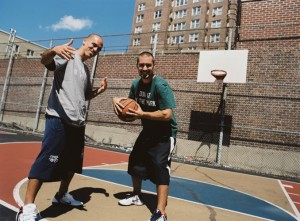 Filmmaker duo García and Kevin Couliau (right) visited 180 courts all over the city. Photo: Justin Francis