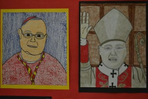Portraits of the Archbishop lined the school's hallways.