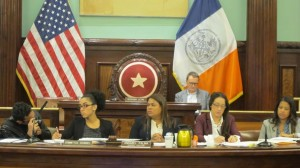 """""""Childcare is a pivotal point that allows parents to continue to work and provide for their families,"""" said Councilmember Annabel Palma (center), Chair of the Committee on General Welfare."""