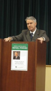 """""""I did it through hard work,"""" said NYPD First Deputy Commissioner Rafael Pineiro, guest speaker at ManhattanCollege."""