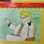 One portrait in which the Cardinal wears a Green Bay Packers Cheesehead.