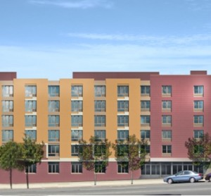 The University Avenue Assisted Living residence features 72 studio apartments with kitchenettes and private bathrooms. Photo: Rendering of University Avenue Assisted Living/ Jewish Home Lifecare