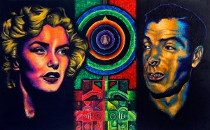 """It's judgment-free and meditative,"" says Morel of his encaustic technique that has produced portraits of figures such as Marilyn Monroe and Joe DiMaggio."