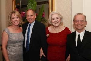From left to right: Mary Ann Christopher, President and CEO Visiting Nurse Service of New York (VNSNY);  VNSNY Lillian D. Wald Award honorees Frank J. Branchini, Chairman and CEO at EmblemHealth, Inc.; Claire M. Fagin, PhD, RN, FAAN, Member of the Board of VNSNY and Master of Ceremony Joel Grey.  Photo: VNSNY