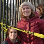"""""""I heard ambulances and helicopters early in the morning,"""" Tao Moran and her son, Aiden. Photo: R. Kilmer"""