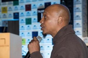Audience member Mark Bodrick is the Coordinator of Bronx Community College's Future Now program.